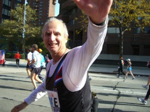 Alain at the 2008 New York Marathon