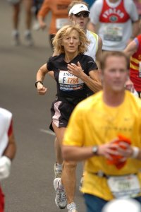 Simone at the 2007 New York Marathon